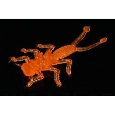 Мягкая приманка MicroKiller Веснянка 3.5см оранжевый флюо (8 шт.)
