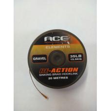 Поводковый материал ACE RE-Action 35lb(15,9кг) 20м Gravel
