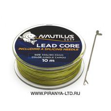 Лидкор NAUTILUS LEAD CORE 35LB 0.75мм 10М Camou Green
