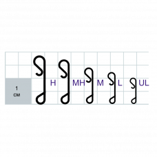 Застежки Gurza-WRAPPING SNAP N SN-8100 № M (безузловка,антибликовое покрытие)(10шт/уп)
