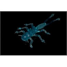 Мягкая приманка MicroKiller Веснянка 3.5см синий флюо (8 шт.)