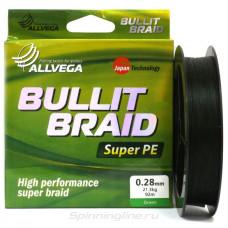 Плетёнка Bullit Braid 0,10 135м 5,5кг зелёная