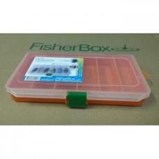 Коробка Fisher Box 216 6 Вертикальных отсеков оранж