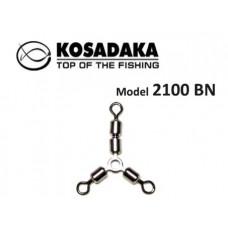 Вертлюг трехсторонний Y-образный Kosadaka 2100BN №8 тест19кг (2шт)