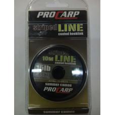 Поводковый материал в оплётке Pro Carp striped Line 15lb(6,8кг) 10м