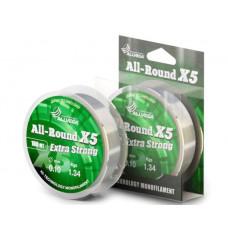 Монофильная леска Allvega All-Round X5 100м 0,18мм 3,95кг