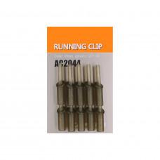 Клипса ORANGE пластиковая для скользящего монтажа Running clip, цвет kh, в уп. 10 шт.