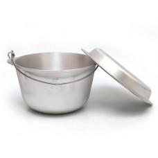 Казан-котелок алюминиевый на 5л с сковородой-крышкой