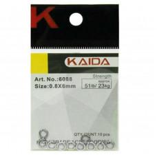 Кольца заводные Kaida 6088 №0.7/5мм тест 17кг