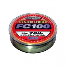 Флюр Sunline System Leader FC100 30м 50lb 25кг