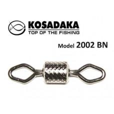 Вертлюг Kosadaka роликовый рифленый №12 4кг (упаковка - 20шт)