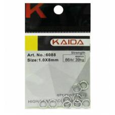 Кольца заводные Kaida 6088 №1.0/8мм тест 39кг