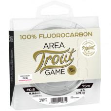 Леска монофильная Lucky John Area Trout Game FLUOROCARBON Pink 075/028