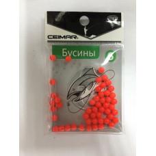 Бусины CEIMAR силиконовые №6 красные