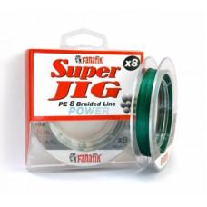 Плетеная леска Fanatik Super Jig PE X8 Green 0,18 100м 12,1кг