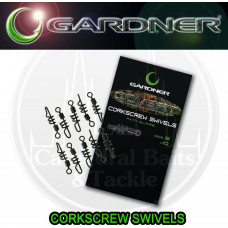 GARDNER TACKLE COVERT CORKSCREW SWIVELS SIZE 8 ANTI GLARE