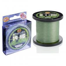 Плетёнка WFT Gliss 0,1 150м 4кг зеленая