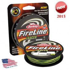 Леска плетеная Berkley FireLine Tracer FLM GREEN SMOKE 0.15 110м 7.9кг