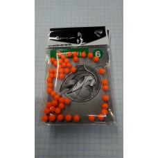Бусины CEIMAR силиконовые №6 оранжевые