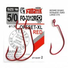 Офсетный крючок Fanatik FO-3312-XL Red №5/0