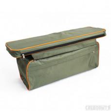 """Накладка на сиденье """"СЛЕДОПЫТ"""" мягкая, с сумкой, 65 см, цв. хаки"""