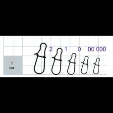 Застежки Gurza-NICE Snap (американка) Ni SN-1000 № 1 (10шт/уп)