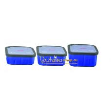 Контейнер пластиковый Волжанка с крышкой 1л