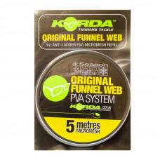 KORDA Сетка PVA запасная Original Funnel Web Micromesh 35мм 5м мелкая ячейка