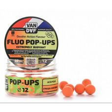 Бойлы плавающие VAN DAF Pop-Ups 12 Груша-Кислица
