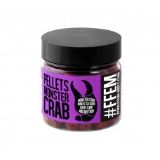 FFEM Hookbaits Pellets Monster Crab 8mm 100гр на основе палтуса с ароматом краба
