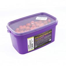 Бойлы растворимые Rhino Baits Super Strawberry (супер клубника), 24мм, ведро 2 кг
