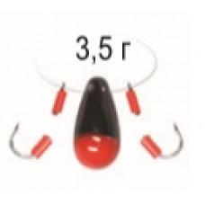 Балда-Чертик Булава 3,5гр Пирс черно-красная