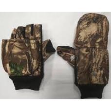 Варежки-перчатки с кнопкой флис