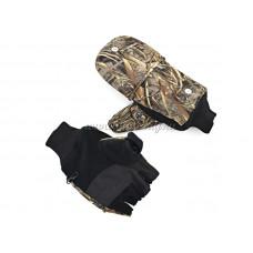 Варежки-перчатки с кнопкой флис ц.лес