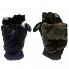 Варежки-перчатки с липучкой флис